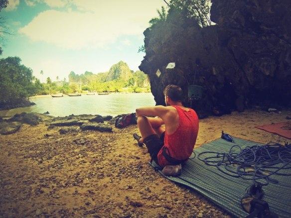 Railay beach: Climbers heaven.