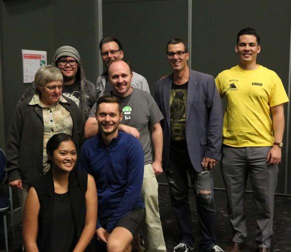 The iForage team (left to right): Rhea, Helen, Emjay, Rowan, Ben, Thomas, Craig (mentor) and James.